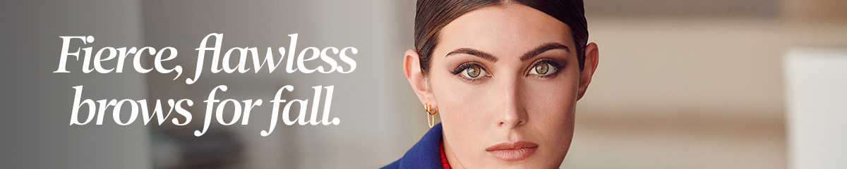 Fierce, flawless brows for fall.